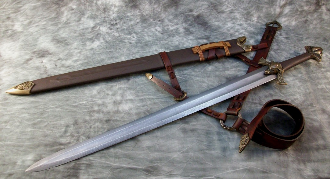 Bronze By Jeffrey J Robinson Mesmerizing Pattern Welded Sword