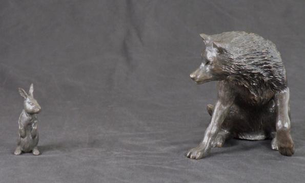 Wolf eating rabbit - photo#27
